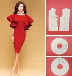 Elegant Photo of Custom Sewing Patterns Dress Sewing Patterns, Sewing Patterns Free, Clothing Patterns, Pattern Drafting Tutorials, Fashion Sewing, Diy Fashion, Ideias Fashion, Sewing Clothes, Diy Clothes