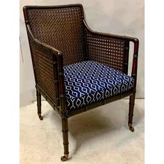 Pair of English Faux Bamboo Caned Club Chairs Snug Room, Bamboo Canes, Faux Bamboo, Finding A House, Club Chairs, Accent Chairs, Armchair, Upholstery, English