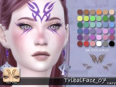 Tribal Face 07 by tatygagg at TSR via Sims 4 Updates