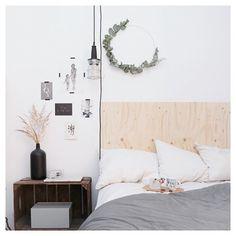 Ihana DIY eucalyptuskranssi pääsi sängyn yläpuolelle  Superhelppo ja nopea toteuttaa! Katso profiilin linkki ☺️
