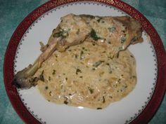 Cuisses de poulet à l'estragon, photo 1 Poulet Masala, Food And Drink, Meat, Chicken, Cooking, Creamy Chicken, Cooking Recipes, Poultry, Interesting Recipes