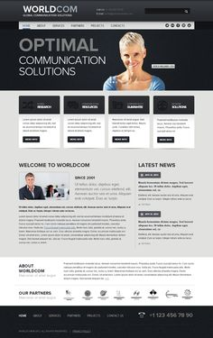 World Com Business Twitter Bootstrap HTML Template by Dynamic Template