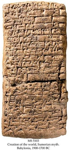 Sumerian Tablets