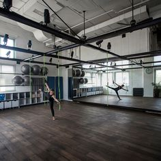 Jacobs-Yaniv has created a pilates studio for Paralympic gold-medallist Keren Leibovitch using a steel frame to create spaces inside a former events hall.