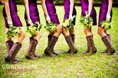 country bridal party -cute