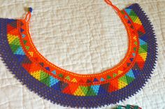 Hichol Bead Collar Necklace by FrequencySeeds on Etsy
