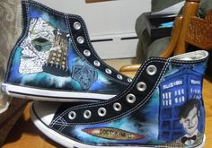 Custom Doctor Who High Top Hand Painted Shoes