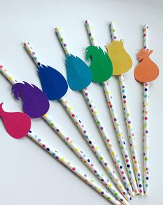 Troll party straws! Available on Etsy!