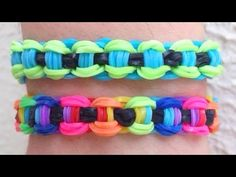 Como fazer pulseira de elástico: Corrente de Bicicleta #RainbowLoom, My Crafts and DIY Projects