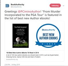 From Murder Incorporated to the PGA Tour was picked up by Book Authority and is featured in the list of best new Author ebooks! So excited and honored! We've only just begun! Fiction Novels, Say Hello, Short Stories, Good News, My Books, Author, Tours, Sayings, Lyrics