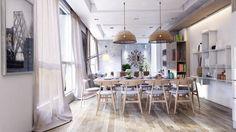 Phòng ăn được bố trí vừa có nhiều ánh sáng, không gian, lại không làm mất đi cảm giác thoải mái. Thiết kế: Koj Designs