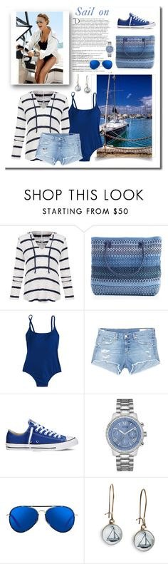 """""""Sail on"""" by terry-tlc ❤ liked on Polyvore featuring Balmain, Splendid, J.Crew, rag & bone/JEAN, Converse, GUESS, Matthew Williamson and Chart Metal Works"""