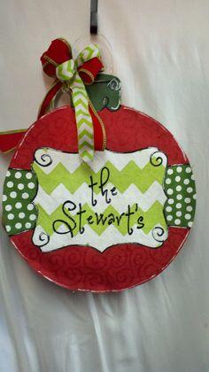 Christmas Ornament Chevron Polka Dot by SayItWithSassRoxboro