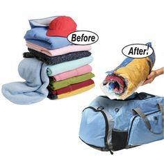 EcoGreen Storage Space Saver Travel Roll-Up Bags