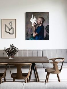 by Robson Rak Architecture & Interiors - Australian Interior Design Awards Dining Room Lamps, Dining Room Lighting, Dining Room Design, Dining Room Furniture, Dining Chairs, Wall Lamps, Walnut Dining Table, Side Chairs, Furniture Ideas