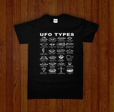 UFO TYPES Shirt | Occult, Cult, and Obscure Clothing | Night Channels