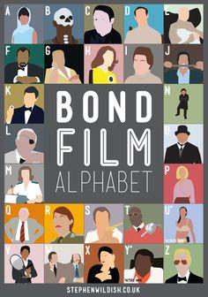 Bond Film Alphabet Poster