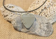 FATHERS DAY GIFT Hand Stamped Jewelry Guitar by BeeBaublesJewelry