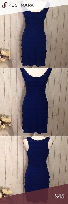 ⚡️FINAL SALE⚡️NWOT Max Studio Dress Small Royal Price is firm unless bundled - Beautiful Max Studio dress, NWOT, never worn, $98 retail, beautiful shade of royal blue color, stylish design, slip on for easy fit, fully lined, doesn't stretch much form fitting, 65% poly, 35% rayon, perfect for spring and summer! Approx measurements: length from top to bottom 34 in, bust 32-34 in, waist 26-27, hip 36-37 in. Bundle to save! Max Studio Dresses
