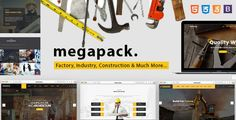 nice Mega Pack - Factory, Sector &amp Building Responsive Template (Internet site Templates)