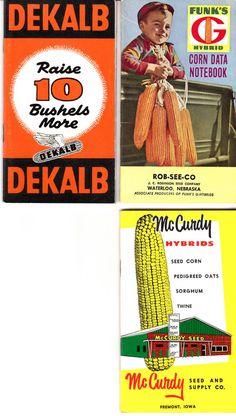 3 Vintage1950s 1960s Seed Corn Booklets by dancingbumblebeecott, $12.00