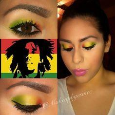 Bob+Marley+Inspired+Look....really cool #makeup