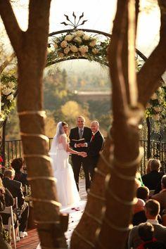 Southern California Weddings Outdoor Back Deck December Ceremony at Padua Hills Theatre - Winter Wedding