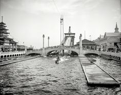 "New York c. 1905. ""Dreamland Park -- Shooting the Chutes, Coney Island."" Detroit Publishing Company. Shorpy Historic Picture Archive"