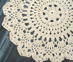 i want this doily rug!