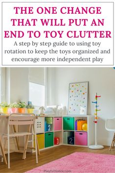 Toy rotation and organization: A simple toy rotation system that will help you organize all the toys, keep the toy clutter under control, and encourage more independent play. | Toy rotation ideas | Toy rotation for toddlers and preschoolers