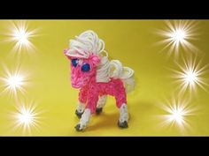 bands, DIY Mommy Animals, My Little Pony). Learn to make Rainbow Loom Horse made with Loom Bands that can be modified into a Rainbow Loom My Little Pony charm. If anyone would like me to do a video showing Rainbow Loom Tutorials, Rainbow Loom Patterns, Rainbow Loom Creations, Rainbow Loom Bands, Rainbow Loom Charms, Rainbow Loom Bracelets, Loom Bands Designs, Loom Band Patterns, Loombands Tutorial