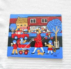 Vintage Wood Puzzle Game Toy Childrens Galt by ChocolateBoxCottage