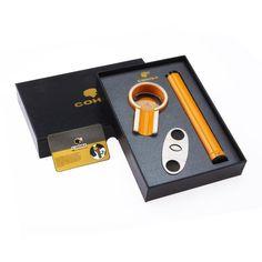 High-grade Business Gifts Portable Titanium Cigar Ashtray Cigar Cutter Cigar Tube Set W/ Original Box Four Color for choose Travel Set, Travel Style, Cigar Gifts, Cigar Tube, Cigar Ashtray, Pipes And Cigars, Zippo Lighter, Business Gifts, Cigar Cutter