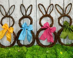 Original Bunny Wreath - Spring Wreath - Easter Decoration - Large or Mini Bunny Wreath- Quick Ship