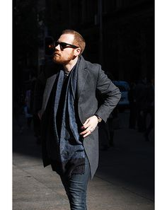 The sophistication of a great scarf.  Street style in Sydney #mens #fashion