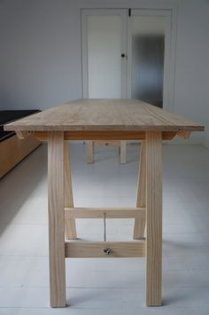 Timber Trestle Table 1800x700mm dining / desk / shop by LaTrestle, $400.00