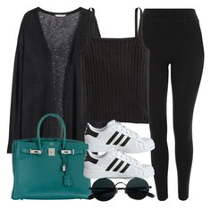 """#14778"" by vany-alvarado ❤ liked on Polyvore featuring H&M, Topshop, adidas Originals and Hermès"
