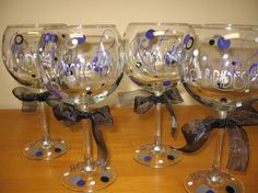 I am adding these to my wine glass line.  Great for bridal party gifts.