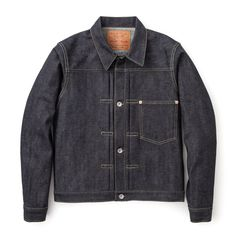 <p><span>A true reproduction of a WWII denim jacket. Features WWII production characteristics such as a four button front, single patch pocket on chest and cinch back.</span></p>