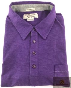 Penguin Heritage Slim Fit Polo Shirt Mens Size XL Short Sleeve Purple Golf Sz #Penguin #PoloRugby