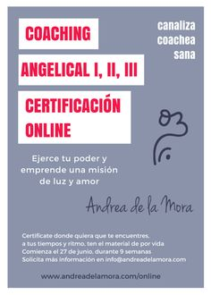 Coaching angelical online 27 de junio | Andrea de la Mora