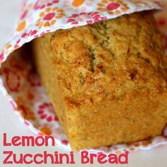 Lemon Zucchini Bread - So good! Made for Father's Day, and had to bake an extra loaf for us. Used a combo of white flour & whole wheat flour. SO GOOD!