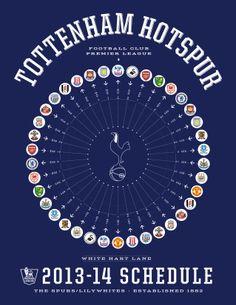 Tottenham Hotspur 2013-14 Premier League Schedule