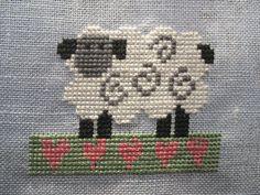 Sheep Cross Stitch, Cross Stitch Art, Cross Stitch Animals, Cross Stitch Flowers, Counted Cross Stitch Patterns, Cross Stitch Designs, Cross Stitching, Cross Stitch Embroidery, Embroidery Patterns