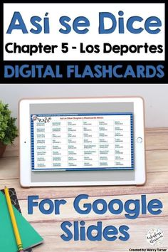 Flashcards are a perfect way to help kids learn Spanish! This file opens in Google Slides and is perfect for distance learning, paperless classrooms, or for learning on the go! Includes 162 slides featuring Spanish vocabulary from Así Se Dice 1 Chapter 5, Deportes. #distancelearning #elearning #googleslides #googlesuite #digitalflashcards #spanishflashcards #asisedice #spanishsports