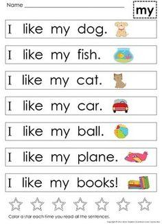 VERY FIRST SIGHT WORD SENTENCES ~ GUIDED READING LEVELS A AND B - TeachersPayTeachers.com