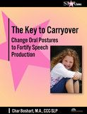 The Key to Carryover:  Change Oral Postures to Fortify Speech Production