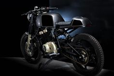 Our Project / Concept Motorcycle with Café Racer seat Suzuki Cafe Racer, Suzuki Motorcycle, Cafe Racer Motorcycle, Suzuki Gsx, Bobber Custom, Custom Cafe Racer, Custom Bikes, Moto Cafe, Cafe Bike