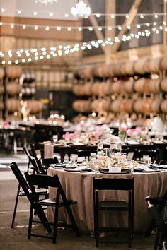 Market lights for indoor winey wedding