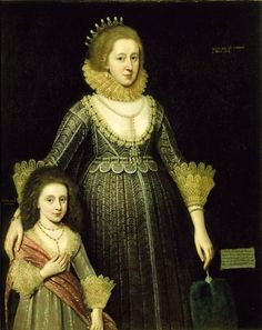 Christian, Lady Cavendish, Later Countess of Devonshire (1598-1675), and Her Daughter Date: 1619 Artist: Paul van Somer North Carolina Museum of Art